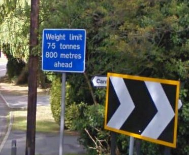 Advanced warning of weight limit
