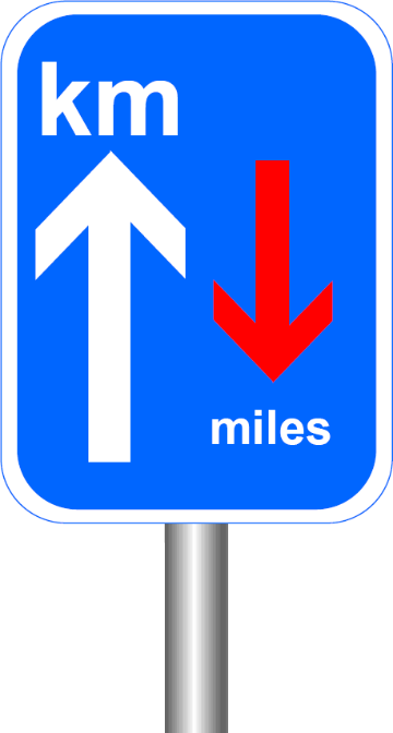 km priority sign