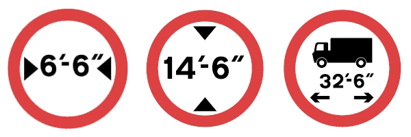 legacy restriction signs