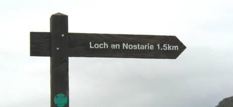 loch nostarie sign