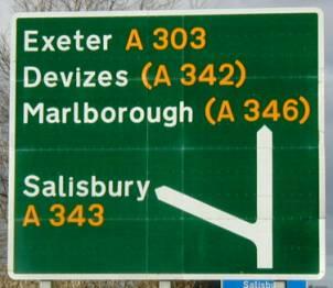 Green A road sign