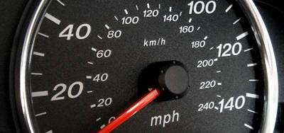 km/h speedometer display